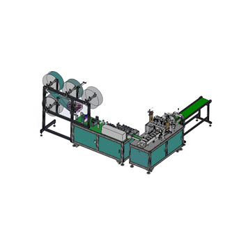 Fully automatic one drag one high speed flat face mask machine